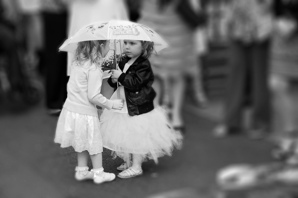 Wedding b&w M&S kids