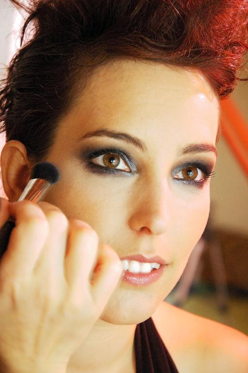 Model Portrait Melanie Getting Makeup Done