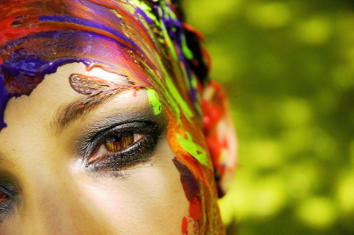 Model Portrait Melanie Paint
