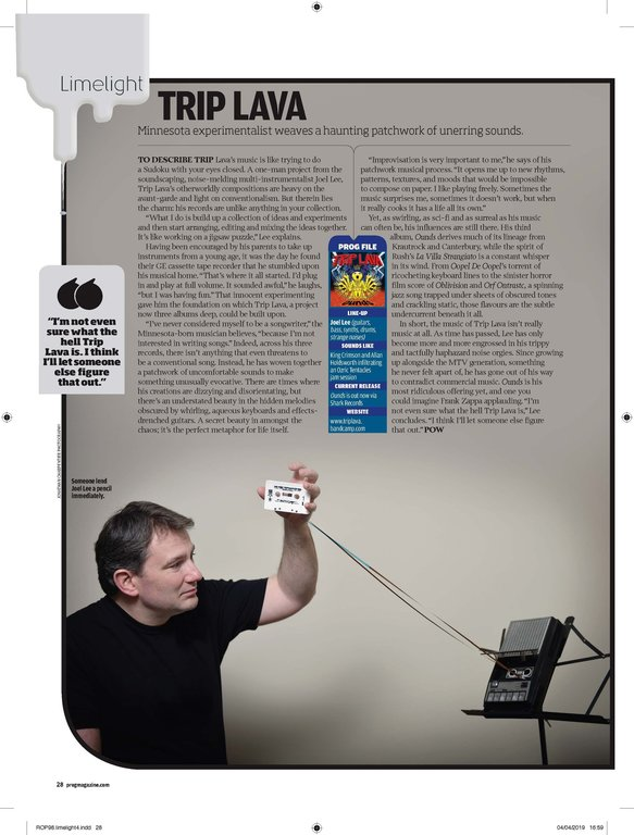 Trip Lava Prog Magazine Issue 98