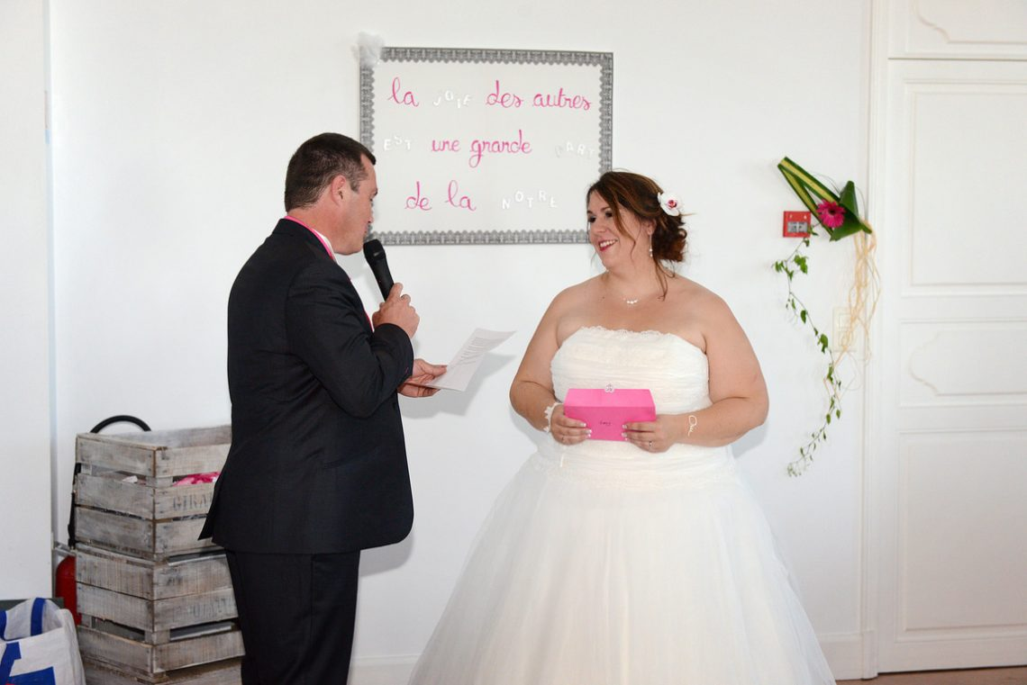 Wedding L&C sweet moment at reception