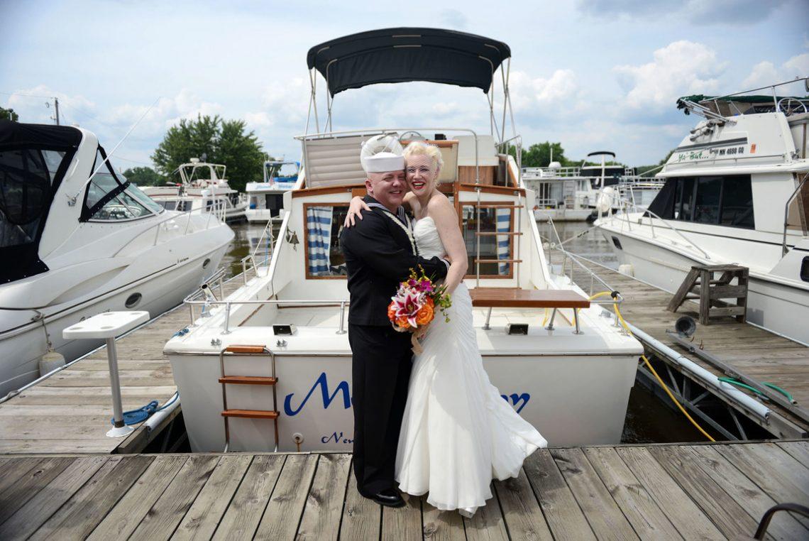 Weddings S&J on the dock