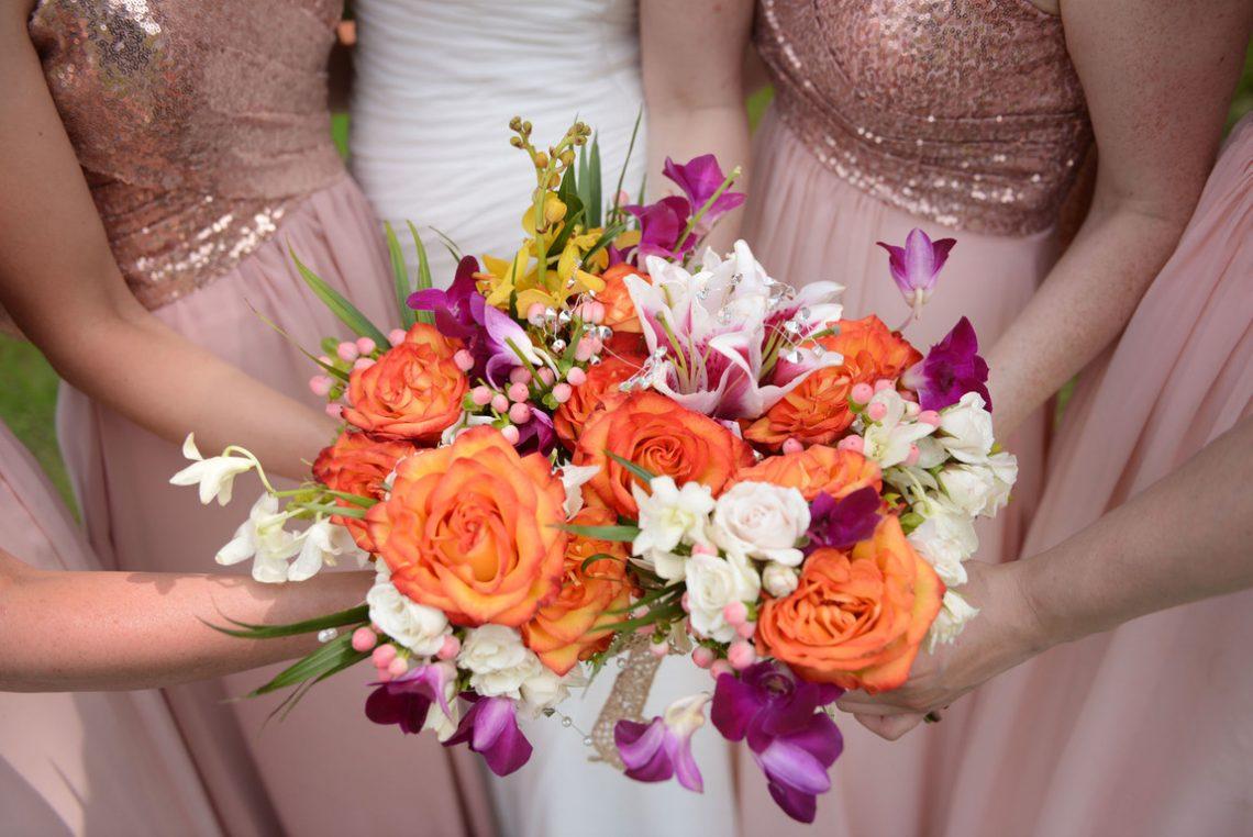 Weddings S&J Bridesmaids flowers