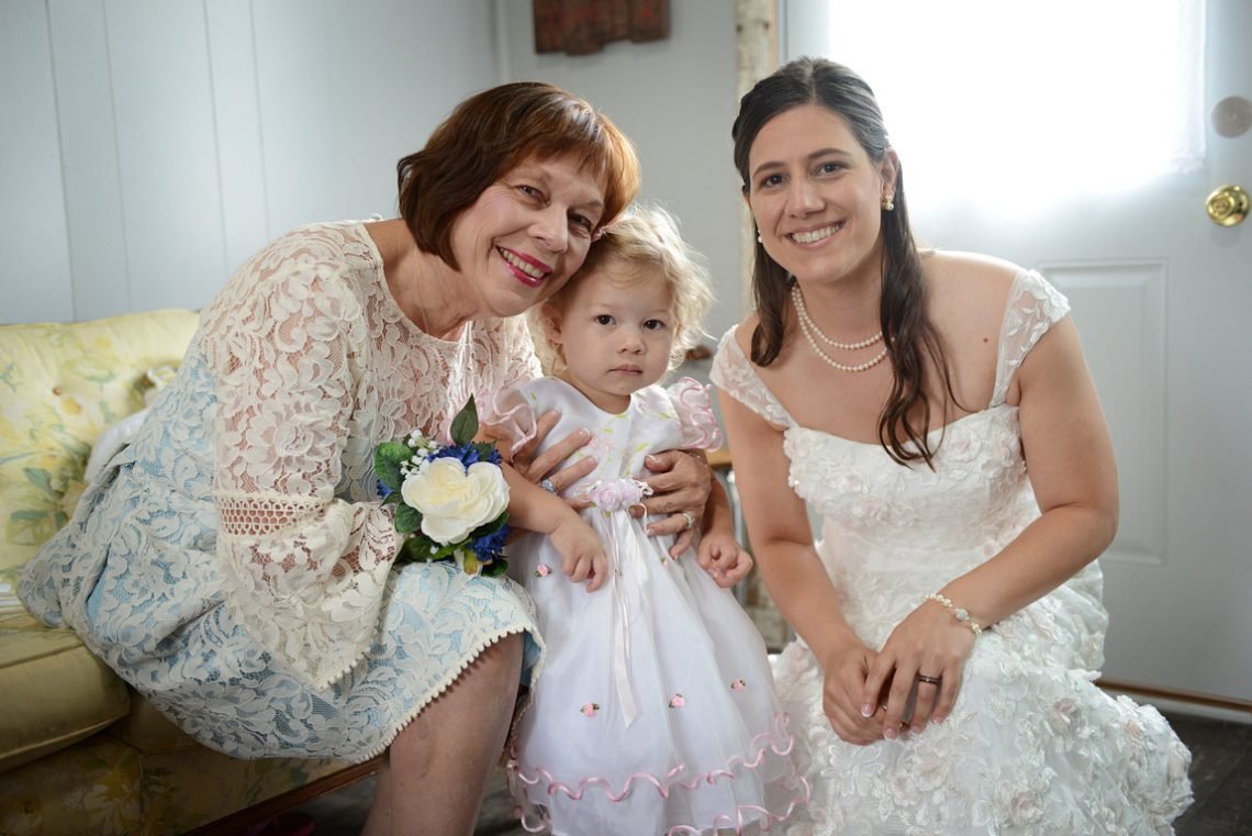 Weddings S&T Bride, Mom and flower girl