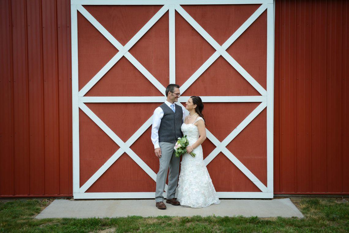 Weddings S&T Red Barn Door