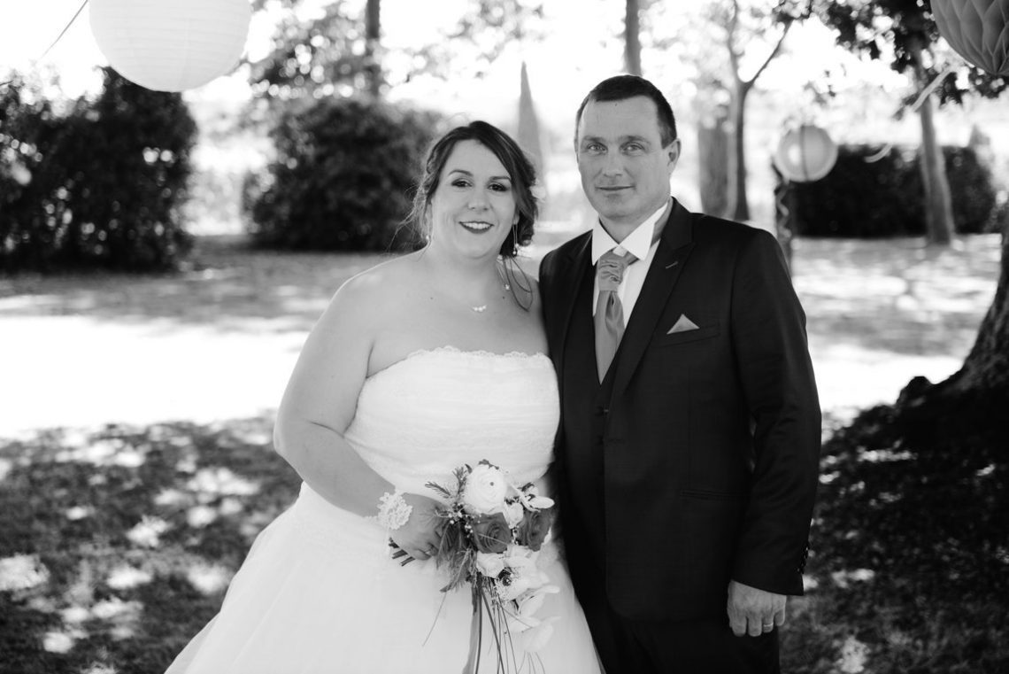 Wedding L&C in black and white