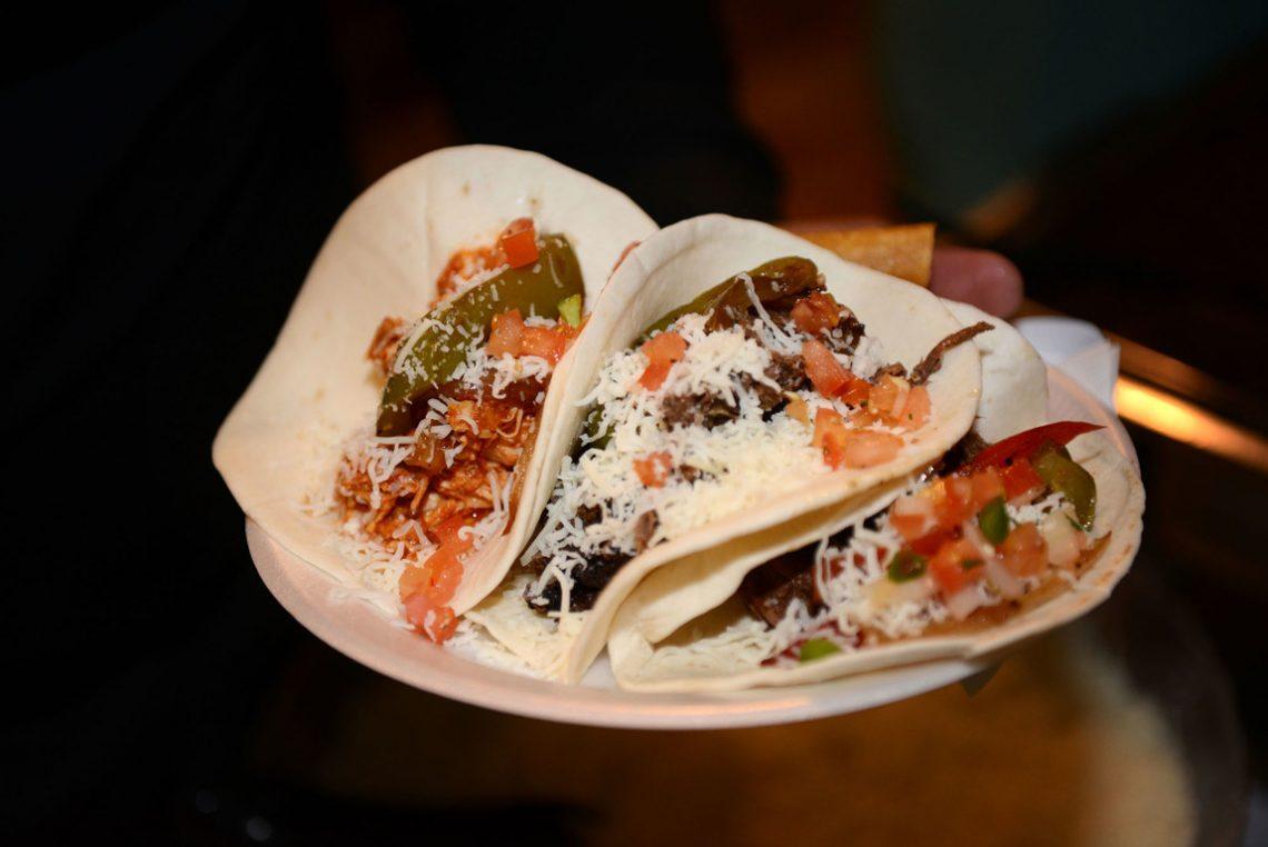 Wedding food tacos
