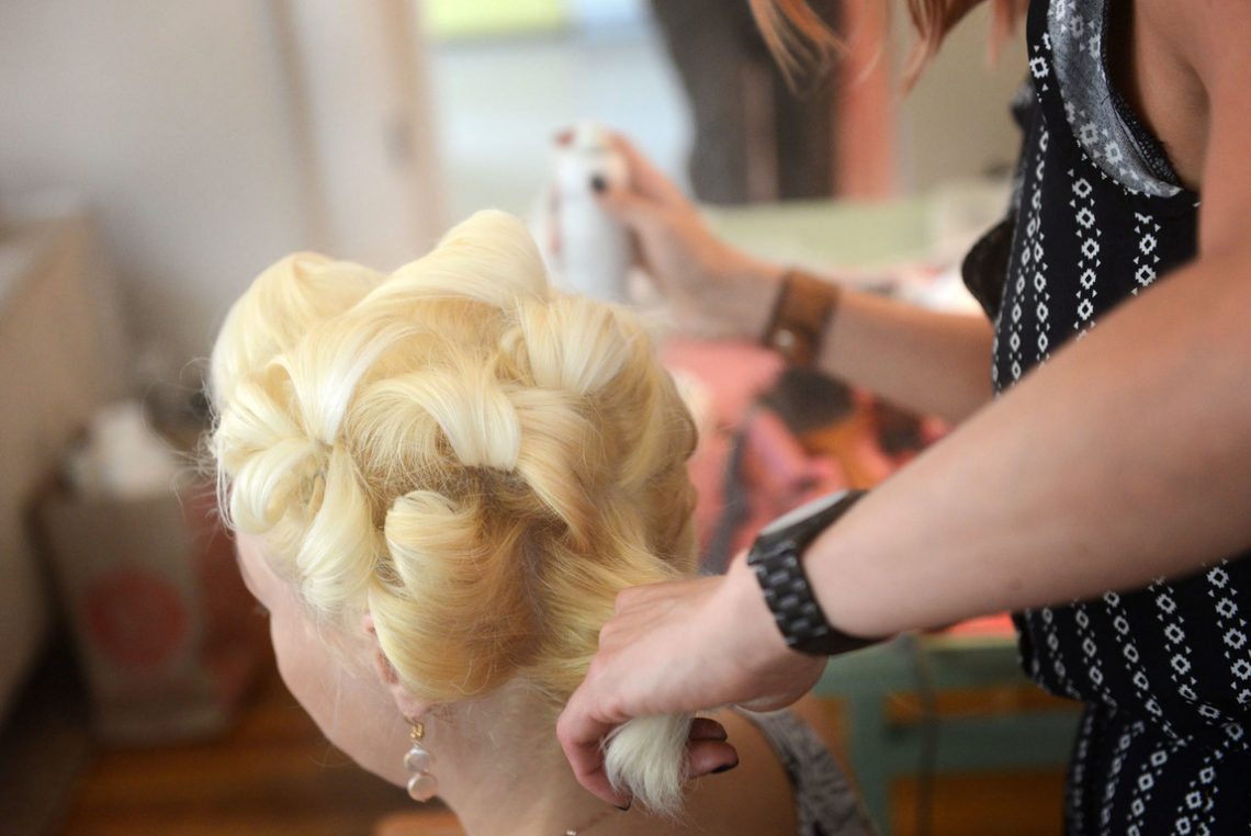 Wedding prep bridal hair