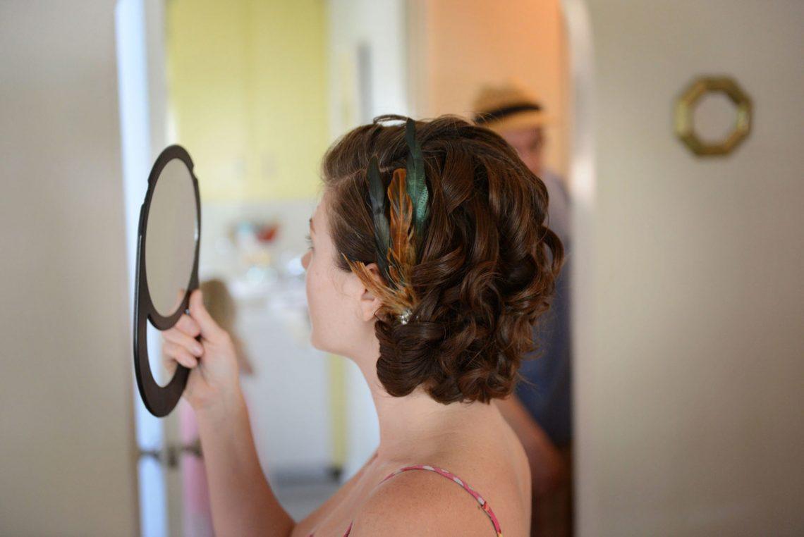 Wedding prep bridesmaid