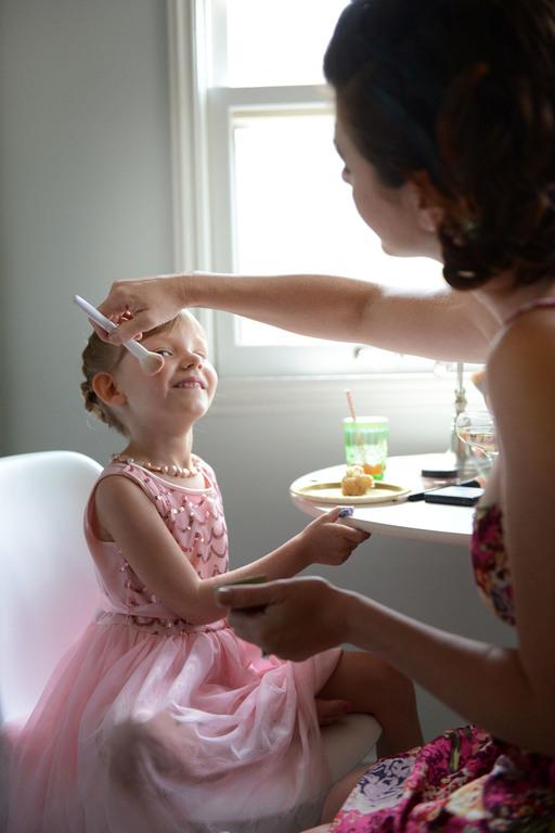 Wedding prep flower girl makeup