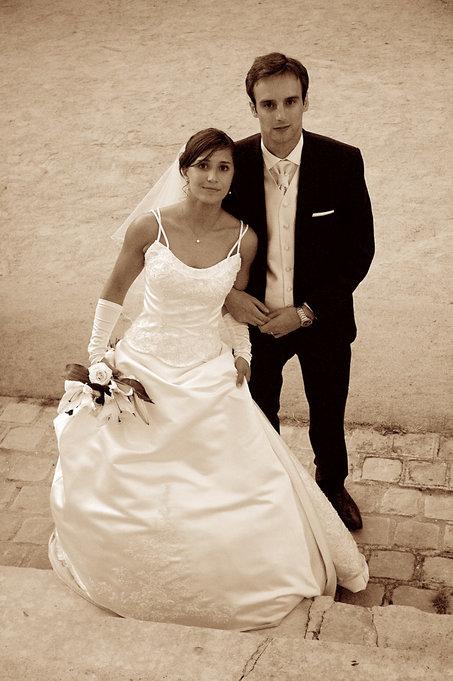 Wedding A&F Couple Sepia Tone