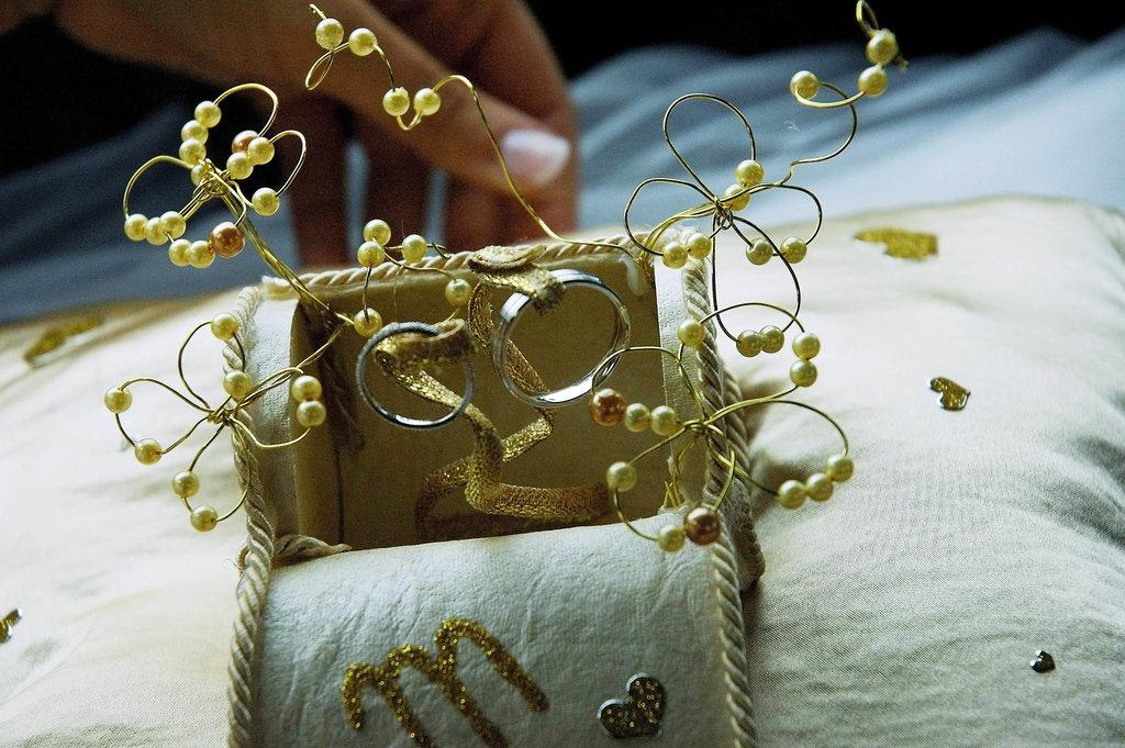 Wedding M&S ring box