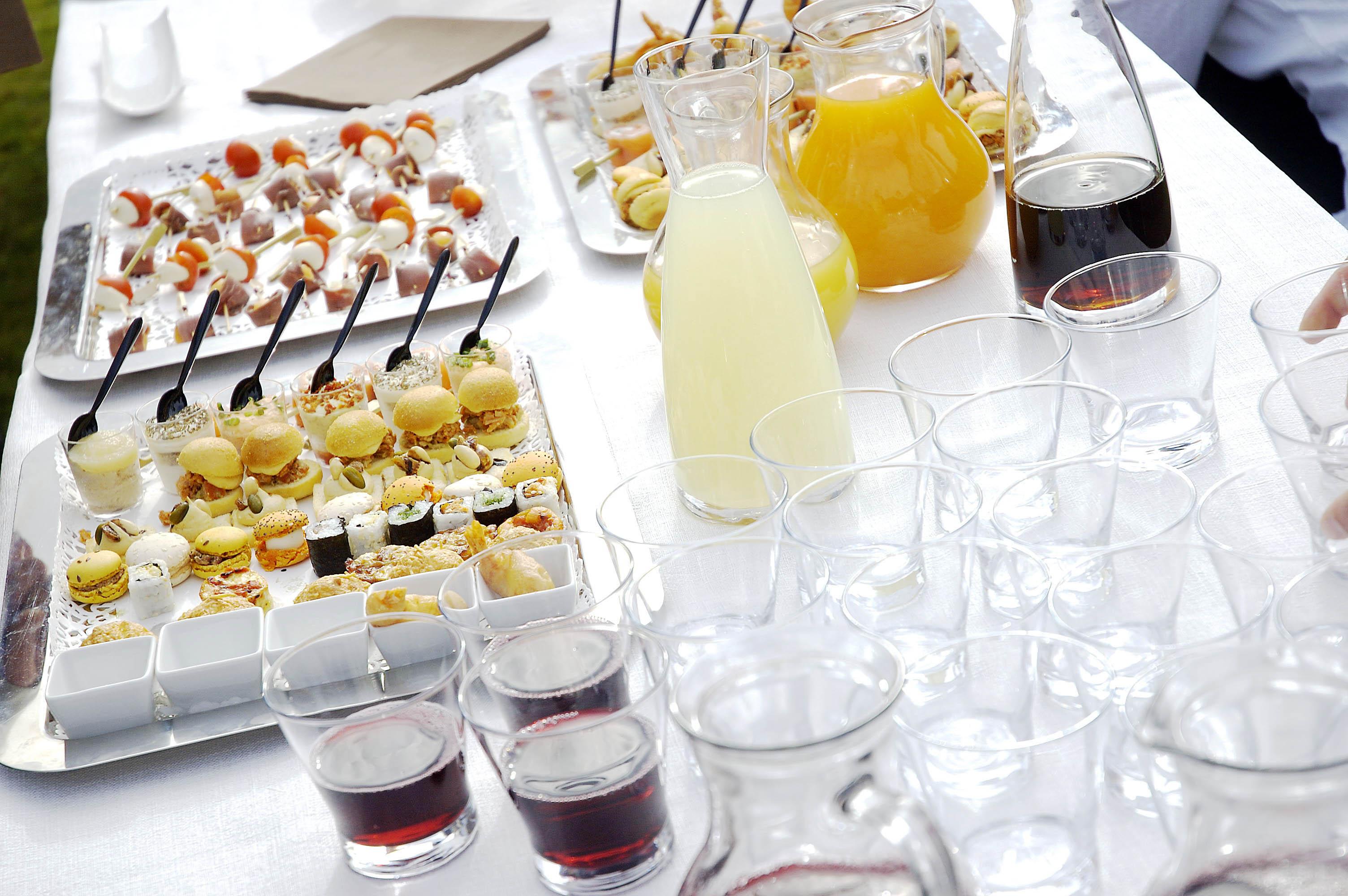Wedding P&D food table