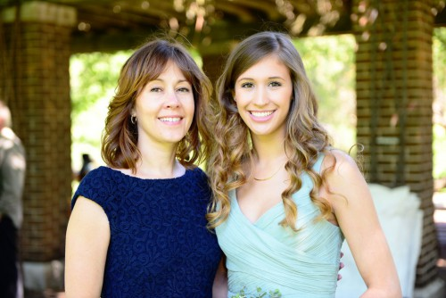 Wedding mom and daughter
