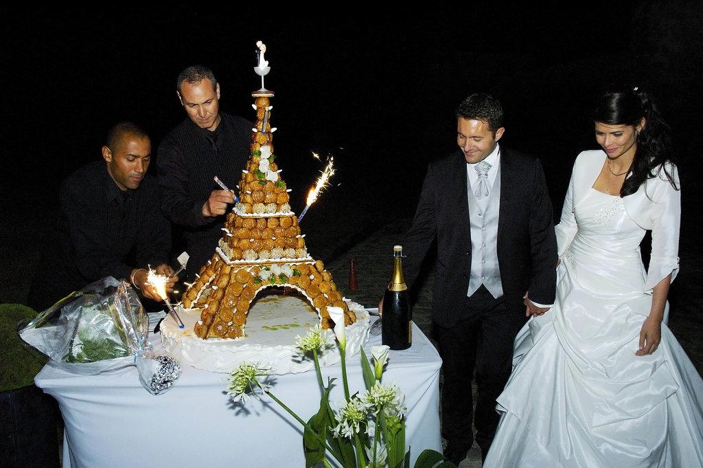 Wedding M&S Eiffel Tower Cake