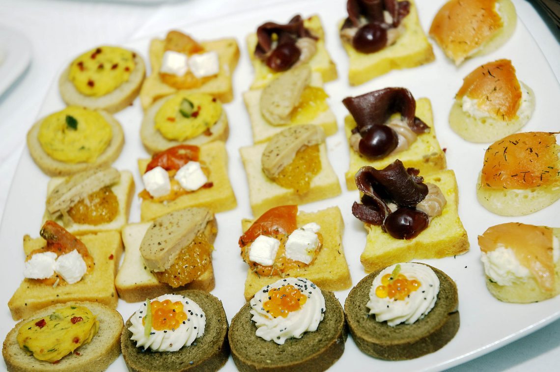 Wedding A&M appetizers