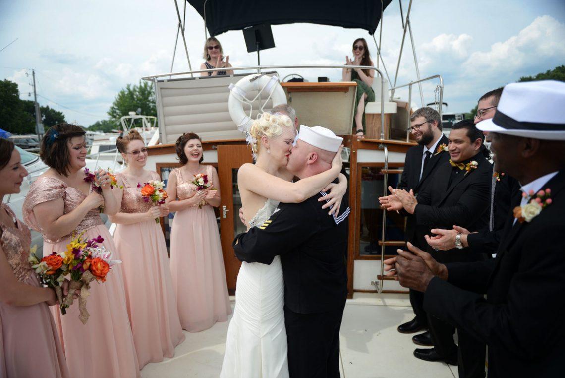 Weddings S&J Ceremony kiss